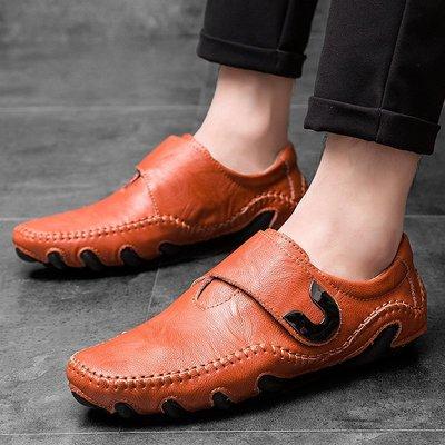 【時尚先生男裝】大碼男鞋新款豆豆鞋男春夏牛皮休閑皮鞋男休閑八爪魚男鞋子潮鞋子 2005240582