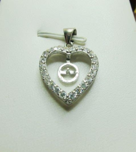 [一品軒庫存促銷品]925純銀珍珠.玉石豪華造型.墜子台.2.0X1.7CM