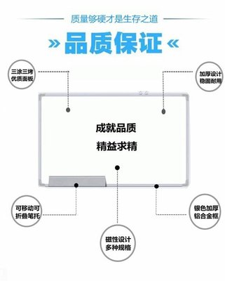 上市多款可選黑板掛式90*120辦公磁性白板掛式學生寫字板zg【全館免運】