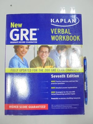 (歡迎詢問價錢)A13-3de☆2011年出版『New GRE Verbal Workbook 7/e』Kaplan