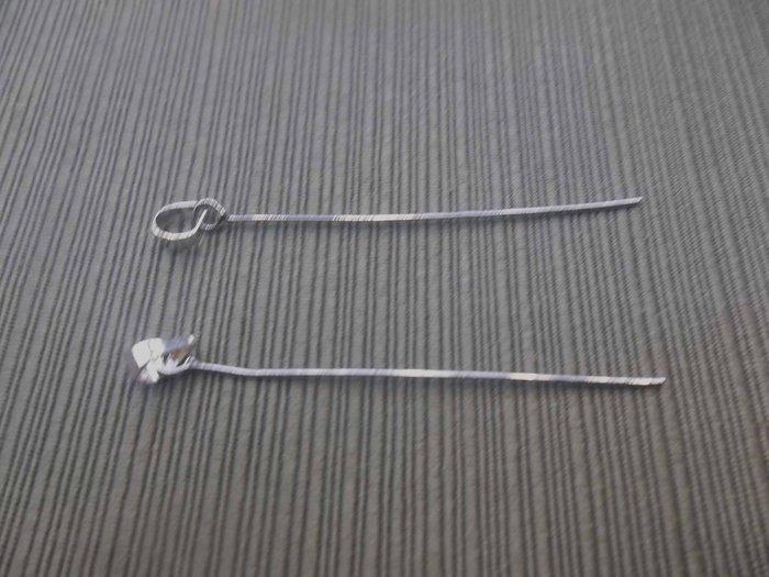 工廠直營~白k色串珠專用玉器古錢水晶首飾等6公分瓜子頭~特價
