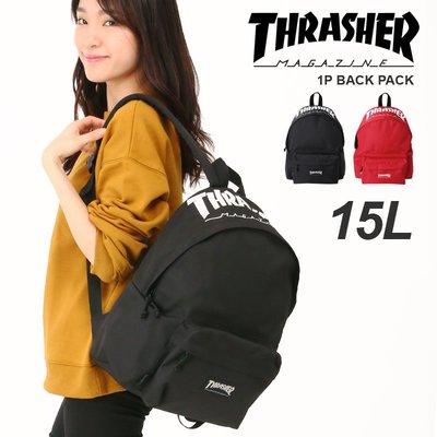 THRASHER Logo 後背包 書包 休閒包 15L A4可 輕量  通勤包  LUCI日本代購