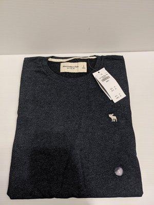 『BAN'S SHOP』Abercrombie & Fitch A&F 短袖 T-shirt 小鹿 深藍 海軍藍  美國購回 全新