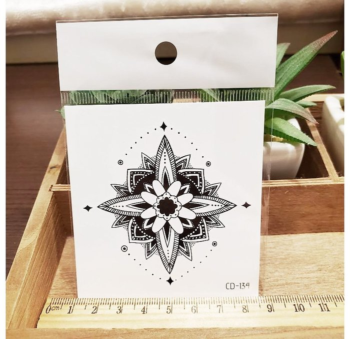 【萌古屋】】花朵圖騰 - 手背防水紋身貼紙刺青貼紙CD-134 K12
