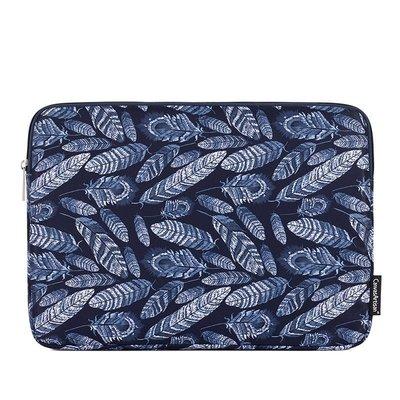 手拿包帆布電腦包-藍色孔雀羽毛印花男女包包73vy32[獨家進口][米蘭精品]