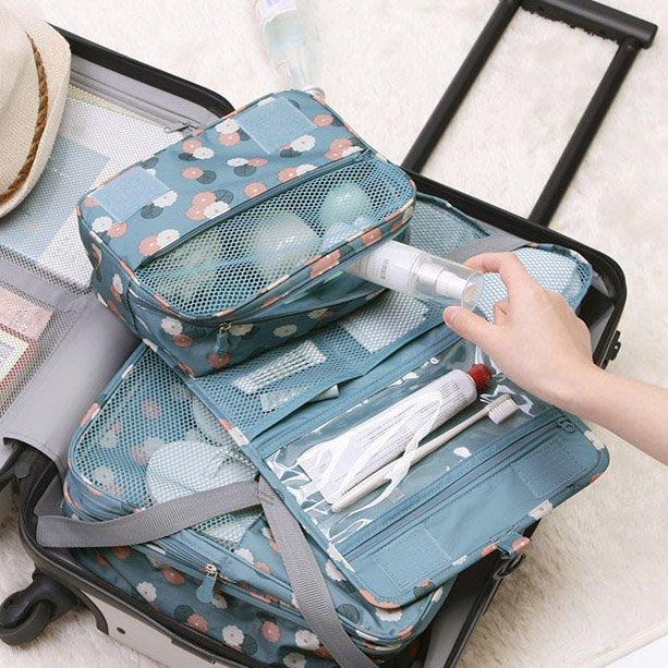 旅行便攜化妝包手提/手拿包 收納包 手提包 收納袋 儲物包 萬用包 女士手提大容量化妝品收納包化妝袋出差防水洗漱包