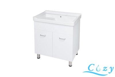 《洗衣槽系列》CZ- F-575-70 浴櫃(收納)  二用大槽面   【寬72*深48*高82cm 】 PVC發泡板