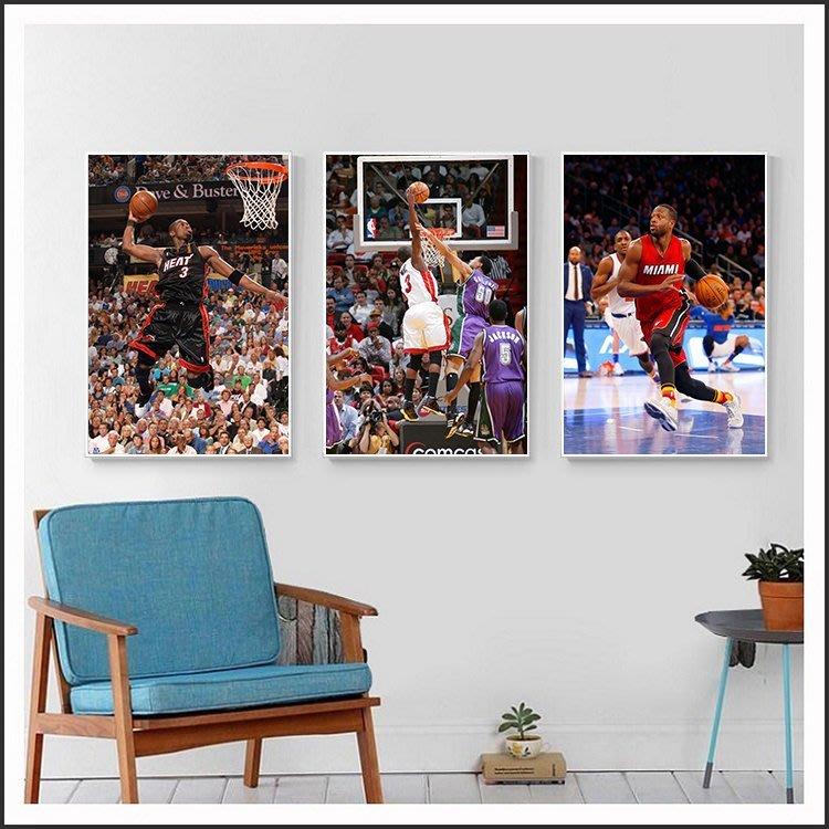 Dwyane Wade 韋德 偉德 NBA 熱火 明星海報 藝術微噴 掛畫 嵌框畫 @Movie PoP 多款海報#