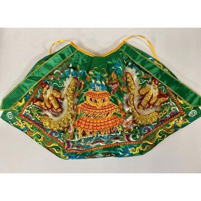 綠色龍袍/中衣龍袍/1尺3神明穿 (1尺2寸長) /關公/關聖帝君/神明衣