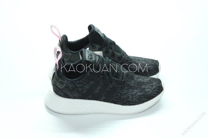 【高冠國際】Adidas NMD_R2 W 黑 粉 雪花 粉拉環 女鞋 BY9314