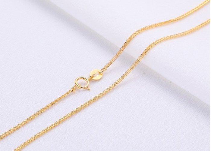 18k金項鍊 蕭邦鍊比較粗寬鍊 易搭任何吊墜  二色可選 做工細緻