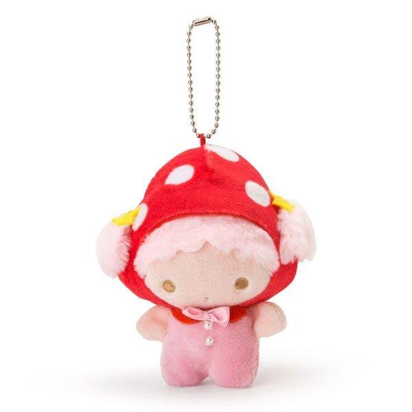 代購現貨  日本三麗鷗 雙子星 LALA 絨毛玩偶吊飾娃娃.蘑菇市集系列