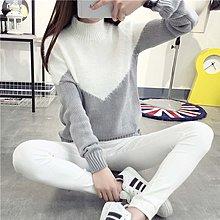 半高領加絨冬季短款加厚毛衣女套頭打底針織衫修身韓版學生線衣潮