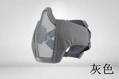 [01] CM1 武士 半罩式 灰 ( 護目鏡眼罩防護罩面罩面具口罩護嘴護具BB彈防彈頭套頭巾鳥嘴射擊cosplay
