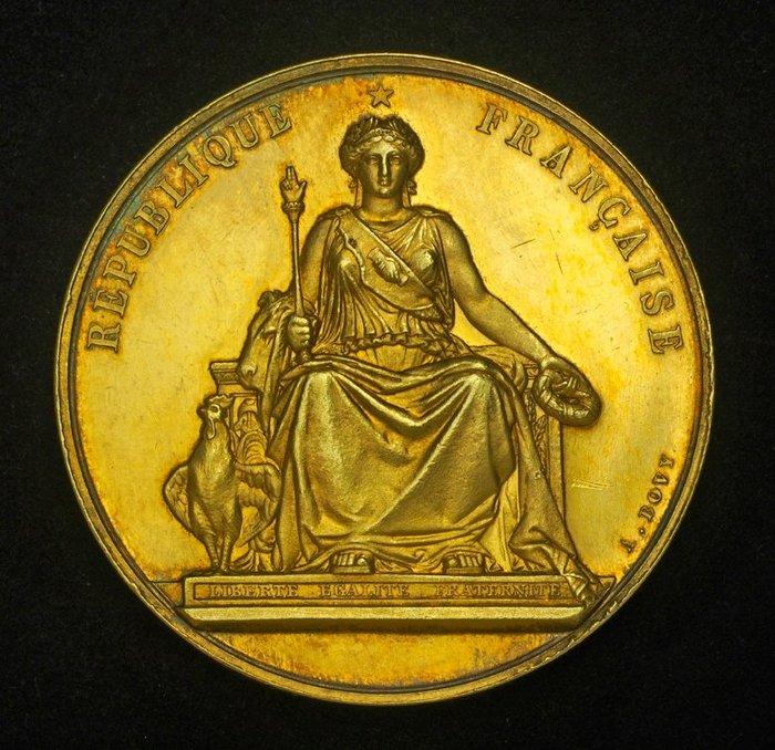 法國鍍金銀章 1891 France 3rd Republic Winery & Agriculture Medal