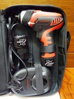 附發票【東北五金】TOPONE  TP12C 充電式電鑽.衝擊起子機.採用韓國進口鋰電池.附電量顯示器 【AA065】