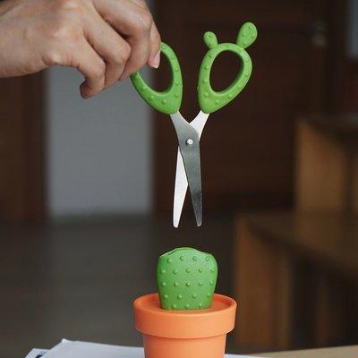 泰國QUALY仙人掌剪刀組(Cactus Scissors - Scissors & Container)