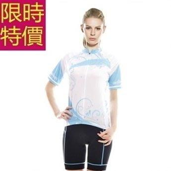 自行車衣 短袖 車褲套裝-透氣排汗吸濕暢銷優質女單車服 56y94[獨家進口][巴黎精品]