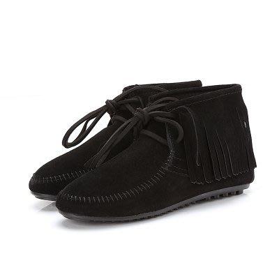 香港OUTLET代購 歐美品牌同款 新款流蘇靴 短靴 真皮平底系帶女靴 縫製鞋 豆豆鞋 雪地靴 短筒女鞋526522