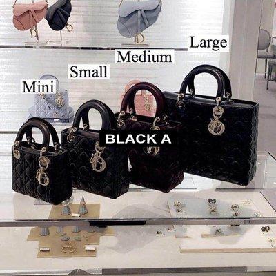 【BLACK A】獨家 法國Lady Dior 羊皮/漆皮/鱷魚皮/蜥蜴皮/蛇皮/鉚釘/絲綢/刺繡/磨砂霧面 3格4格5格7格 戴妃包黛妃包