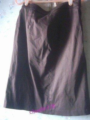 ~二手裙出清~ 近全新 ☆SINGLE NOBLE☆ 獨身貴族咖啡色短裙[秋,冬季] L(女)