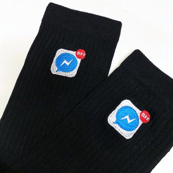 GIANT X BFF BEST FOOT FRIEND - FB APP 襪 中筒襪 黑色/綠色 2雙免運