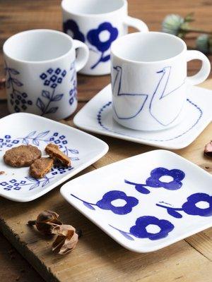 《雪莉工坊+現貨》日本製Homestead / Axcis 天鵝馬克杯盤組  by 日本鄉村風雜貨