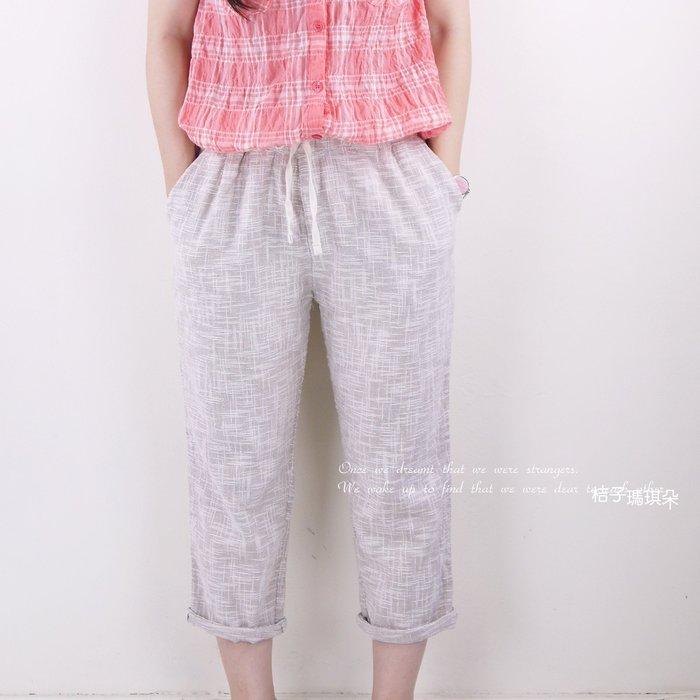 正韓 韓國空運 雪花格紋鬆軟老爺褲 ~惠衣。桔子瑪琪朵