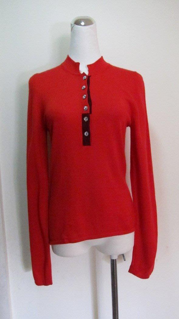 義大利名品.STRIKING紅POLO領毛衣---全新.原價28800