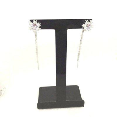 香港正生銀飾代購 現貨 雪花垂墜式長款耳針 🉑️一分為二 兩戴耳環