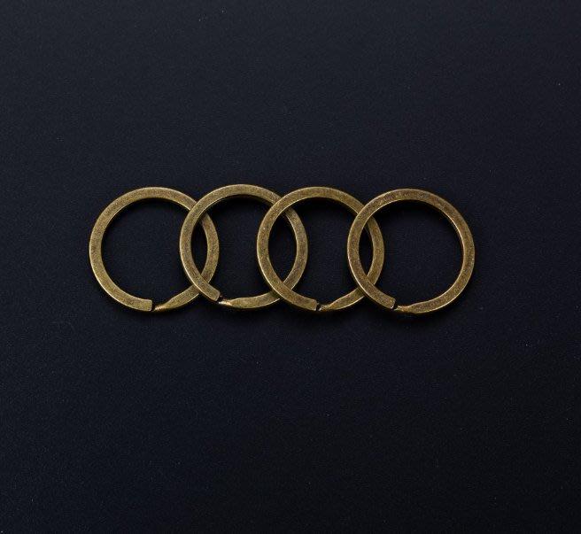 (現貨) G-060 青銅色 (35mm) DIY配件 扁平鑰匙圈 鑰匙環 鑰匙配件 單個鑰匙圈 包包配件 飾品材料