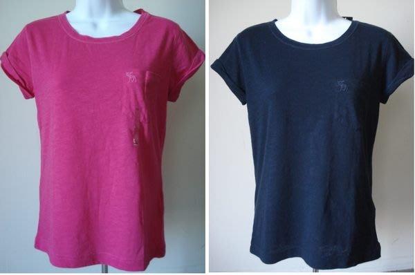 【天普小棧】A&F abercrombie KIDS Venessa寬鬆版短袖口袋T恤 Kids L號現貨抵臺