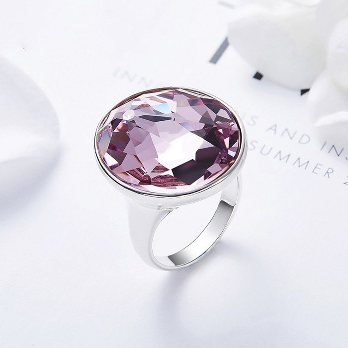 韓國Baby~慕雅夏季新款歐美925純銀戒指女 采用施華洛世奇元素水晶手飾