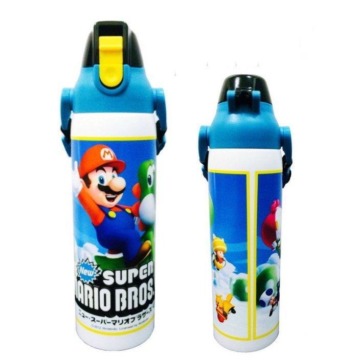 。小森親子好物。日本SKATER正版 SUPER MARIO 超級馬利歐保冷瓶600ml(現貨)【KF15120040】