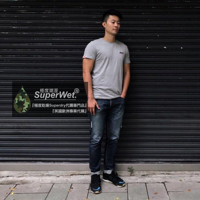 跩狗嚴選 經典款 極度乾燥 Superdry 刺繡Logo T-shirt 純棉 短袖 素T 上衣 T恤 Adidas
