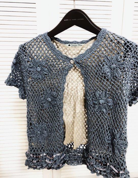 $3999起標 溫慶珠 手工亮片針織外套