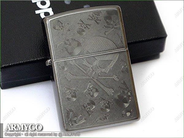 【ARMYGO】ZIPPO原廠打火機-No.28685 (雙面設計)