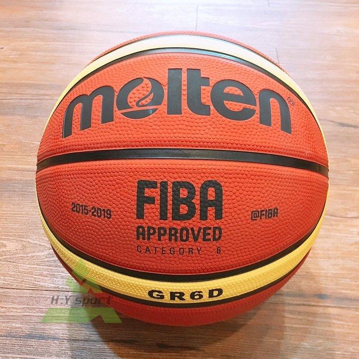 【H.Y SPORT】奧運指定品牌 MOLTEN 6號籃球 女子專用六號球 深溝12貼片(棕黃色/粉色兩款)