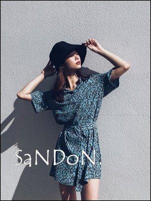 SaNDoN x『SLY』五月夏季 豹紋系列 天絲涼爽BLUR LEO綁帶動物紋路襯衫式OP洋裝 200521