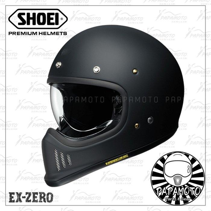 【趴趴騎士】SHOEI EX-ZERO 消光黑色 山車帽 復古越野安全帽