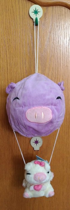 {欣娃小舖}~豬豬球吊小豬 絨毛娃娃2隻一組