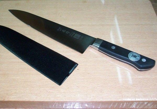 @@@最專業的刀剪 台中市最知名的建成刀剪行@@日本-一角作-彩-口金 .牛肉刀 8寸