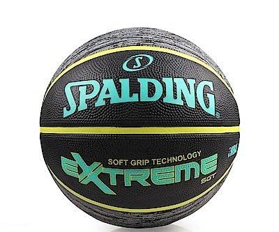 體育課 SPALDING斯伯丁  超彈力深溝柔軟膠系列SPA83499 青檸黃  戶外7號籃球