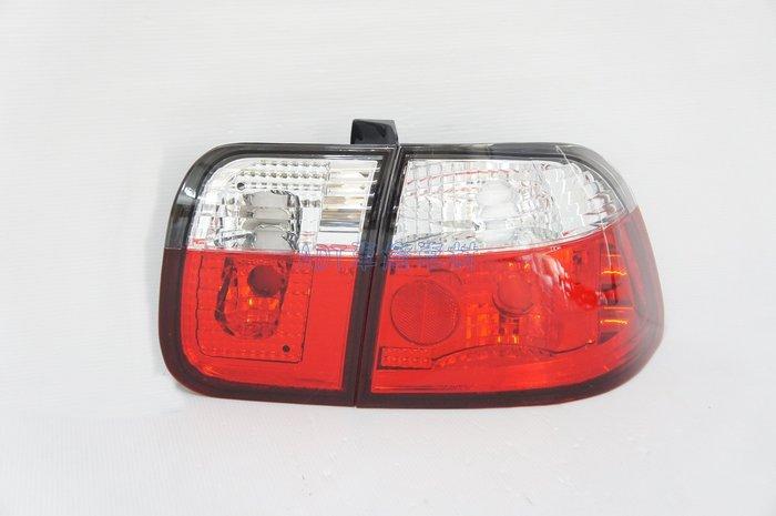 ~~ADT.車燈.車材~~HONDA K8 4門 96 97 98 99 改款前仿小改款 00樣式 上白下紅晶鑽尾燈組