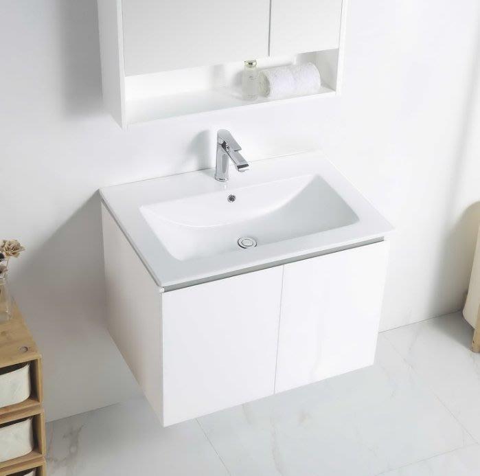 《E&J網》MooE V1-80WH 防水發泡板 浴櫃 + 臉盆 80cm臉盆鋼烤浴櫃組 雙開門 詢問另有優惠