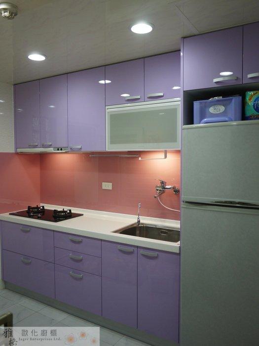 【雅格廚櫃】工廠直營~一字廚櫃、流理台、結晶鋼烤、櫻花時尚三機