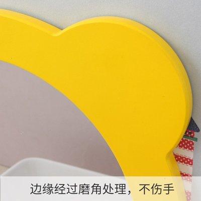 LED 化妝鏡 DIY鏡 梳妝鏡 鏡子 幼兒園廁所衛生間洗手間浴室鏡子貼墻兒童創意裝飾卡通梳妝鏡壁掛