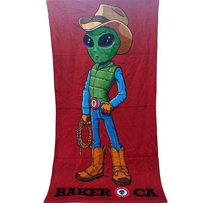 [現貨]外星人肉乾店紀念浴巾 加州打卡景點Alien Fresh Jerky 幽浮 運動洗澡健身巾 生日交換禮物