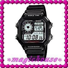 💖夢幻精品屋💖CASIO原廠公司貨~世界時間電子錶AE-1200WH-1A