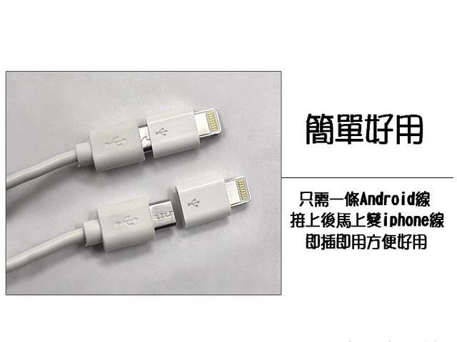 買5送1 iPhone 5 6 iPad mini專用 轉接頭 micro